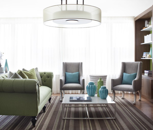Choosing rugs with stripes for the modern home interior for Stripe interior design