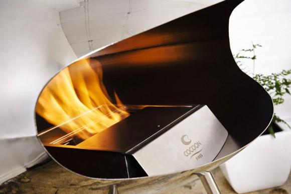 terra stainless steel fireplace