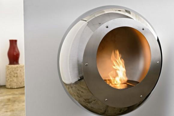 vellum stainless steel fireplace