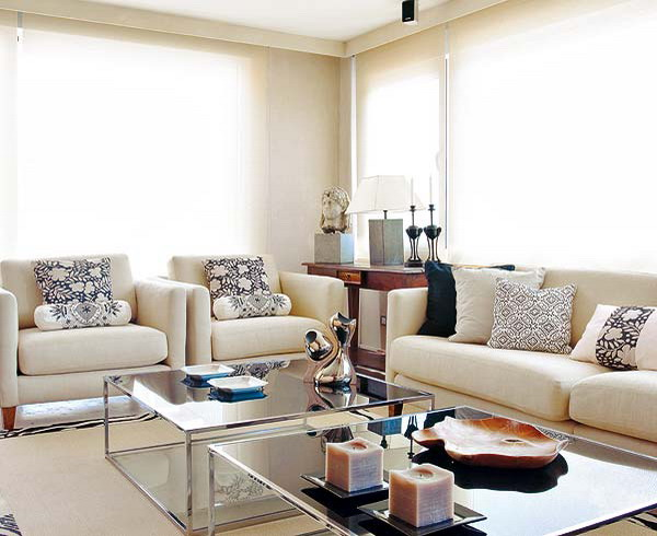 american style white living room ideas - American Living Room Design