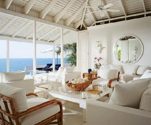 resort style white living room ideas