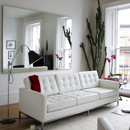 white with black living room ideas