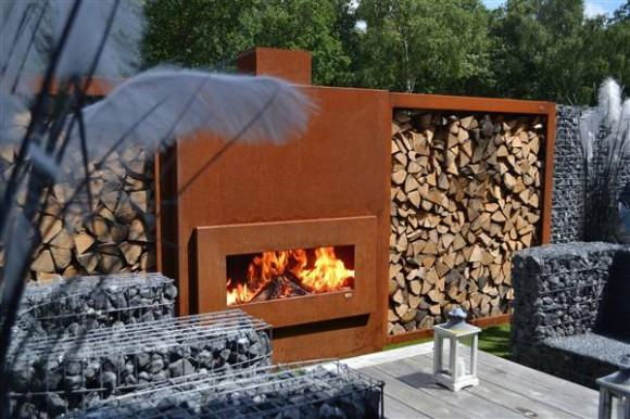 zena retta outdoor fireplace