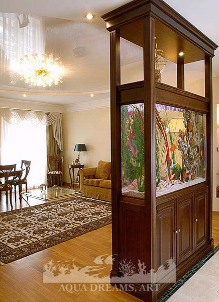 Aquarium Living Room Decor