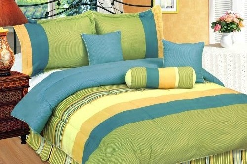 The combination of blue and green for every room - Orange and light blue bedroom ...