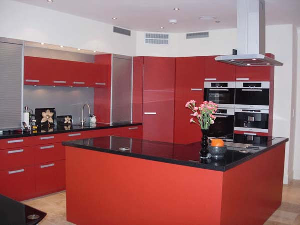 Combinations of red white and black for interiors interior design