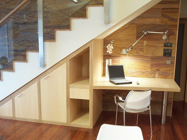 desk under stairs design ideas office under staircase. Black Bedroom Furniture Sets. Home Design Ideas