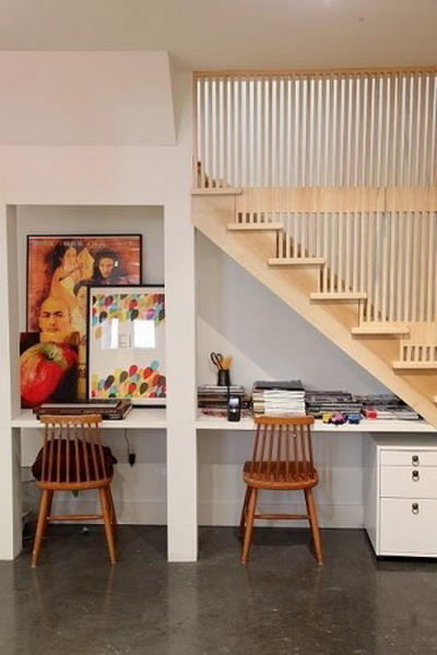 Desk Under Stairs Design Ideas Office Under Staircase