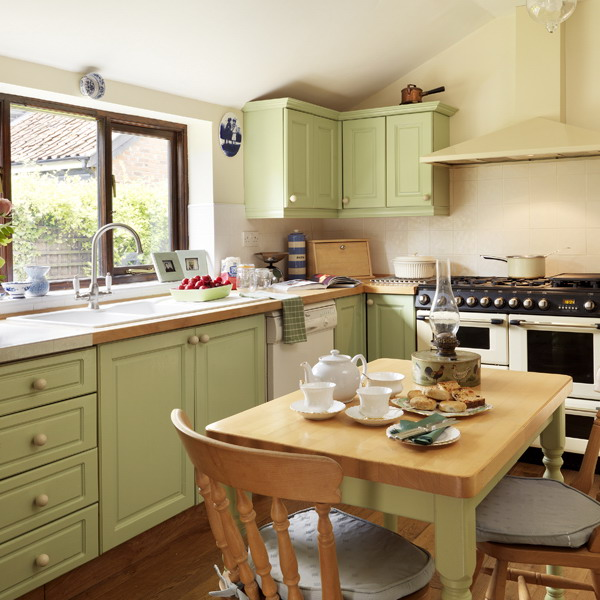 The summer palette choices of green and brown for all for Green and brown kitchen ideas
