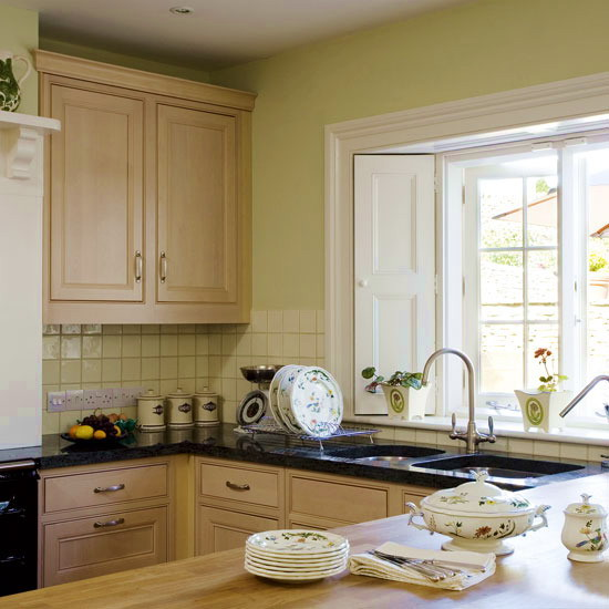 Green Kitchen Walls With Cream Cabinets: The Summer Palette Choices Of Green And Brown For All