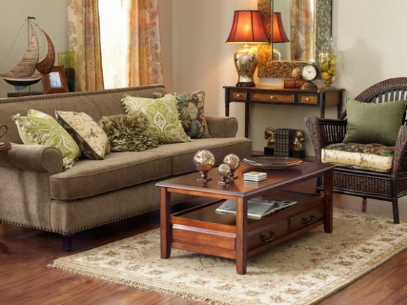 The summer palette choices of green and brown for all - Green living room ideas decorating ...