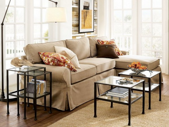 pair of low coffee tables