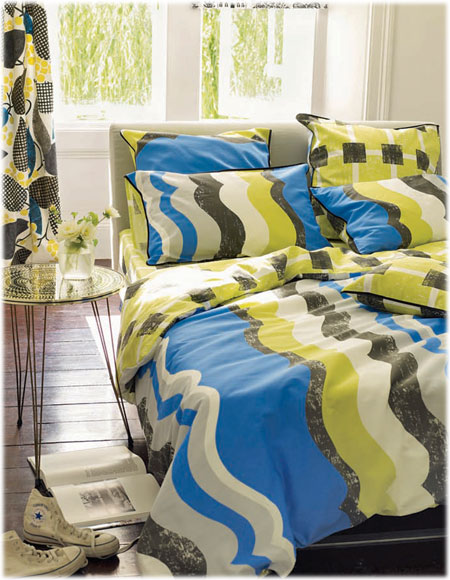 men choice in bedding trend mixed prints