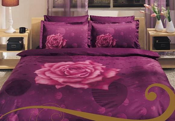 rose inspired bedding pattern