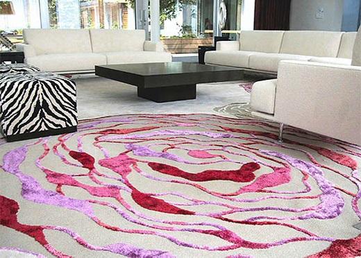 rose inspired rug