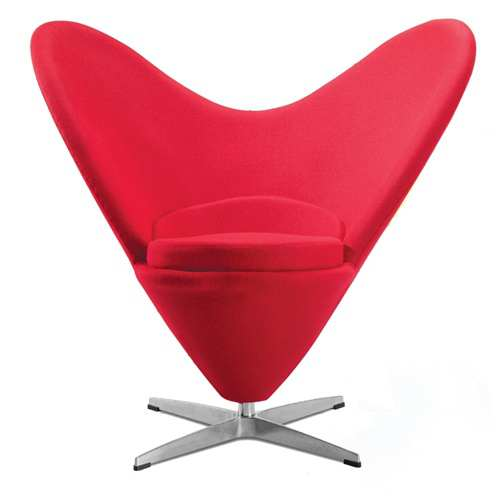verner panton style heart cone chair