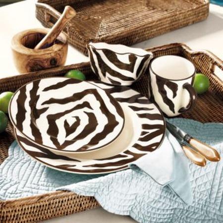 zebra print dining ware 01