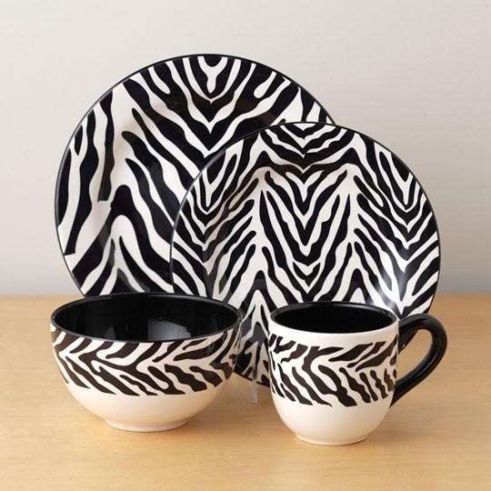 zebra print dining ware 02