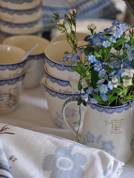 blue flowers creative ideas 04