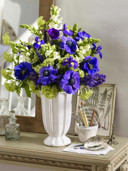 blue flowers creative ideas 10