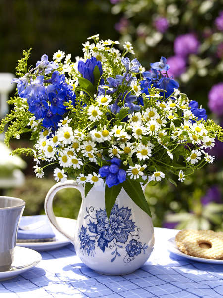 blue flowers creative ideas 11