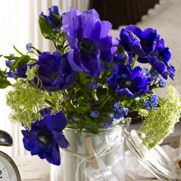blue flowers creative ideas 12