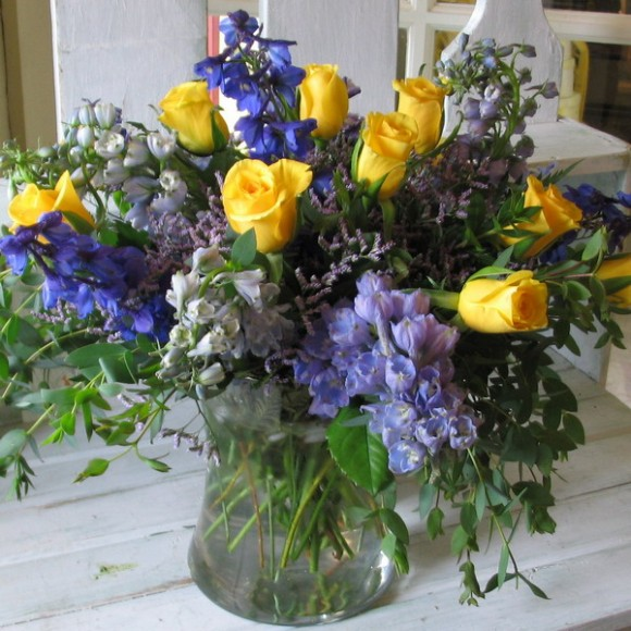 blue flowers creative ideas 13