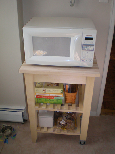 finding place for the microwave 13