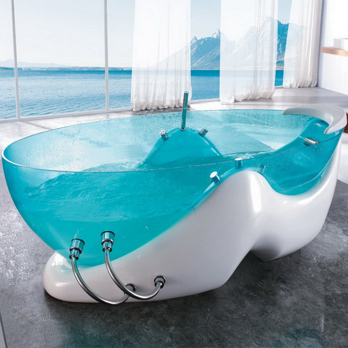 Concrete Bathtub With Jets