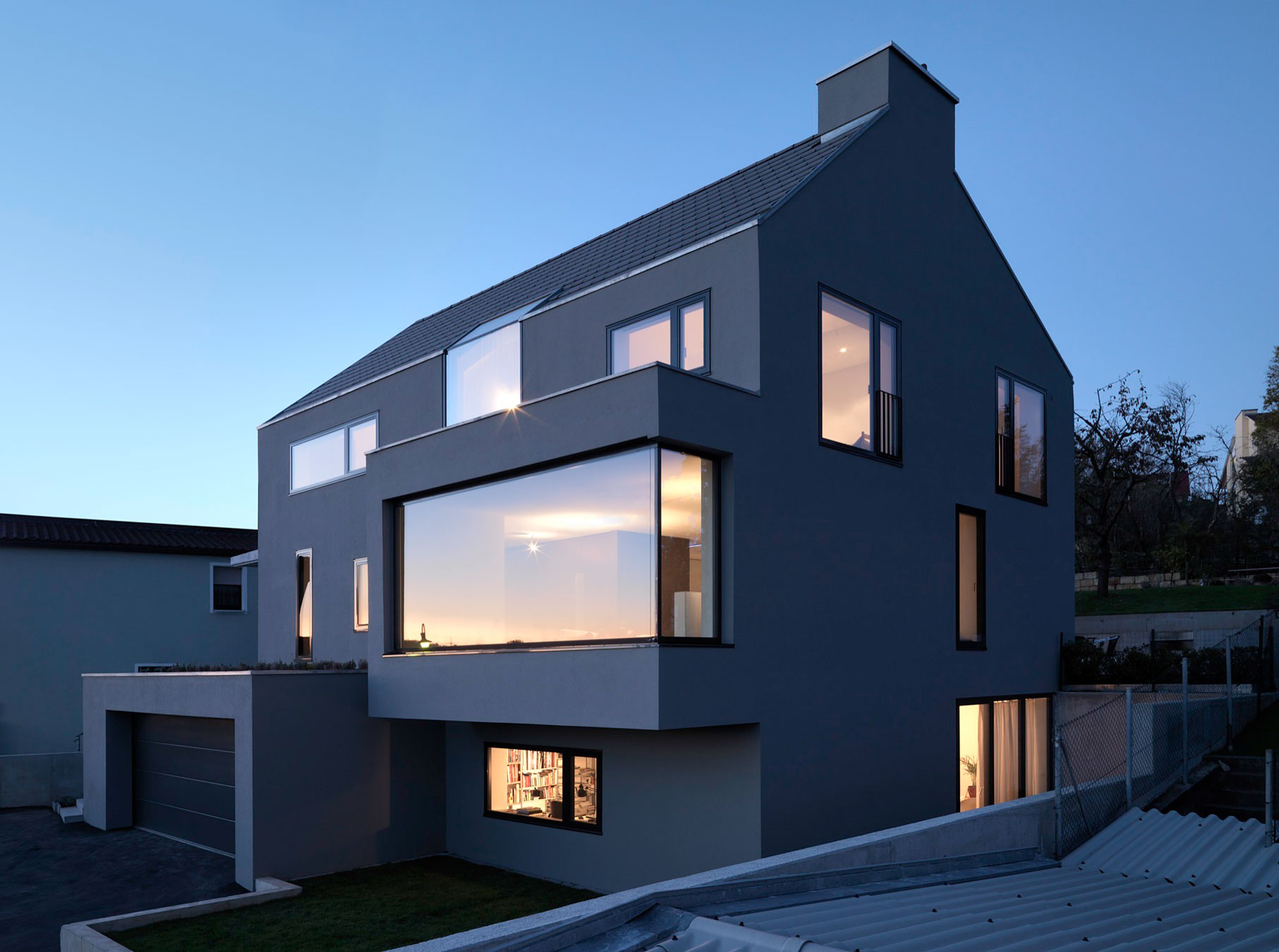 Haus f in denkendorf germany by ippolito fleitz group for Haus design ideas