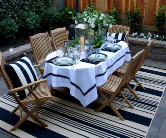 summer outdoor tablecloth aquatic themes 03