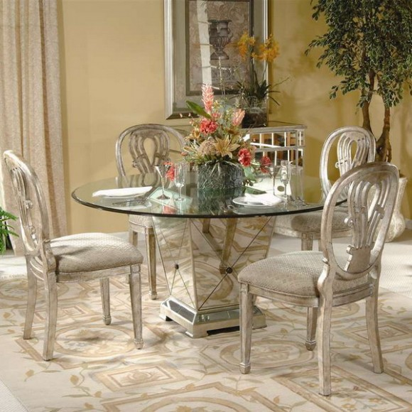 furniture mirrored dining table 01