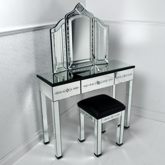 furniture mirrored vanity table 02