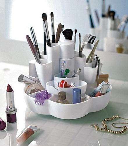 ideas of storing makeup products 01