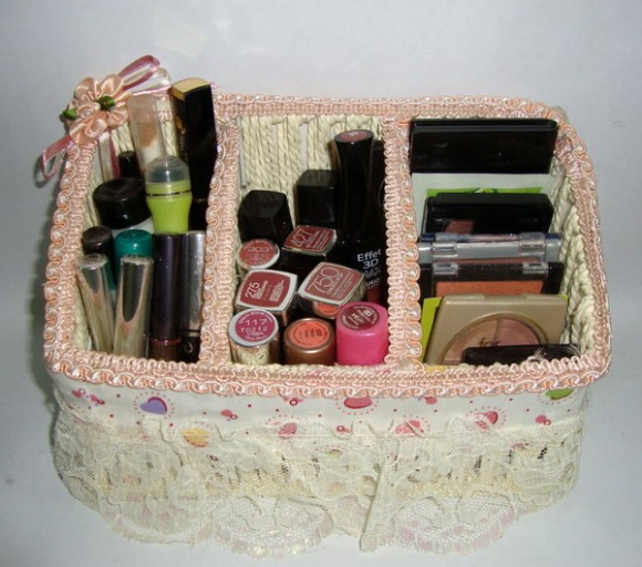 ideas of storing makeup products 10