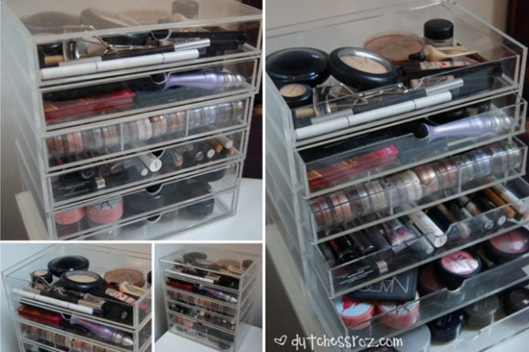 ideas of storing makeup products 16