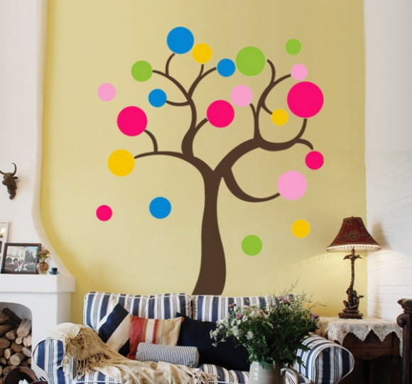 wall decor circles pattern 05