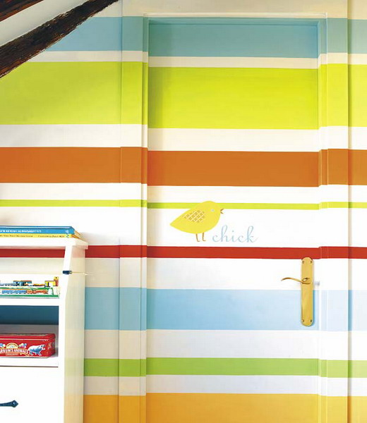 wall decor stripes pattern 04