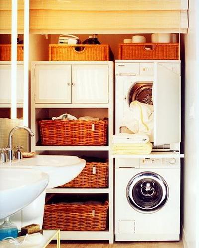 washing machine and laundry storage 12