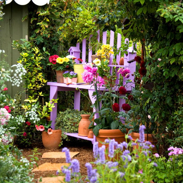Adding bright accents in the garden best ideas revealed for Garden accents and decor