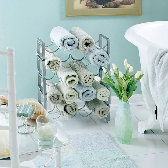 compact towel storage ideas 02