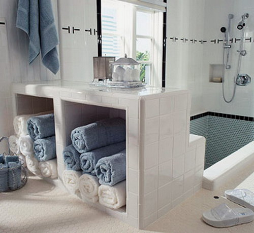 compact towel storage ideas 14