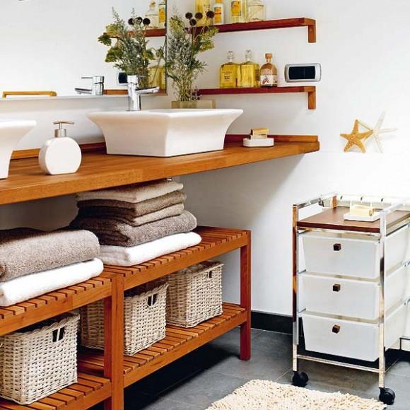 towel storage ideas basket 02