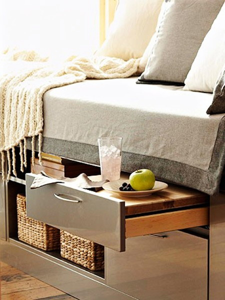 more ideas on keeping things under the bed. Black Bedroom Furniture Sets. Home Design Ideas