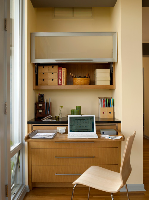 Designing small home office ideas for small rooms - Home office for small spaces photos ...