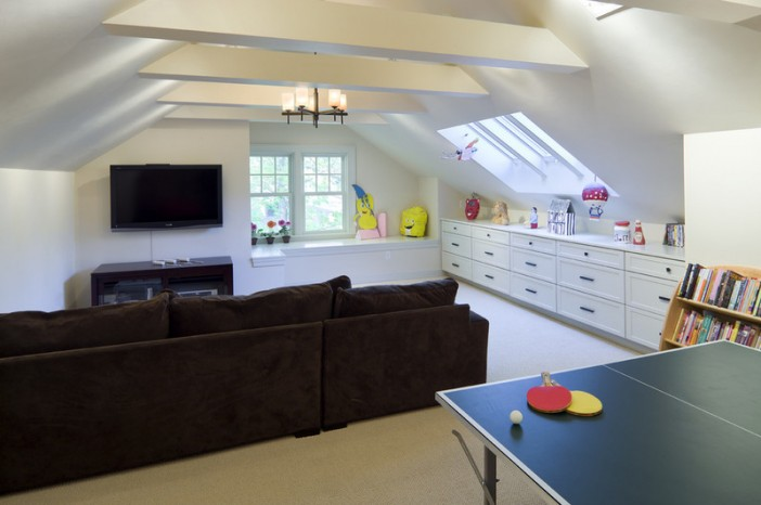 nifty ideas for the attic living room