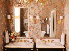 eclectic bathroom by summer thornton design