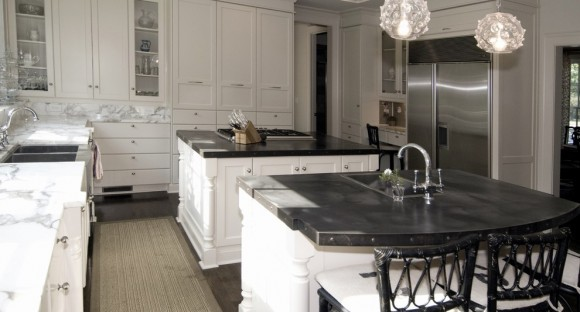 zinc kitchen counter tops