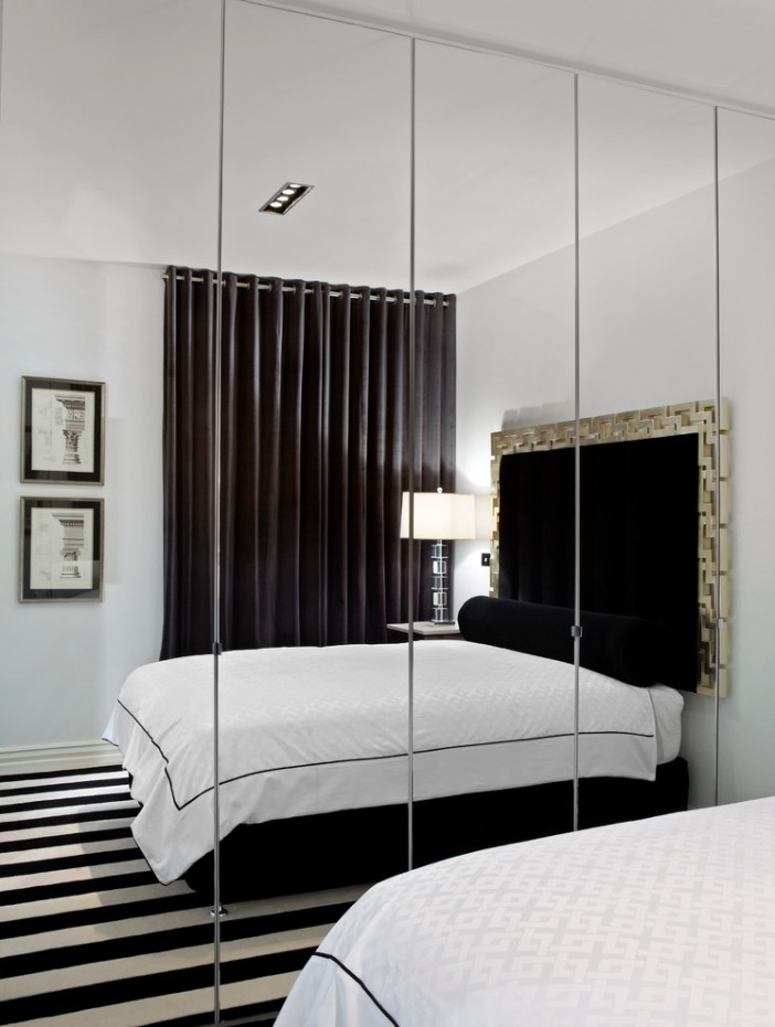 bedroom mirrored cabinets