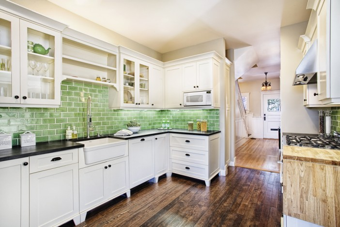 ideas to use recylced tiles in kitchen